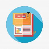 Document Flat Icon With Long Shadow,eps10