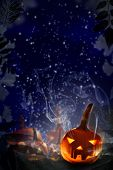 Halloween Project Pumpkins Night Starry Sky