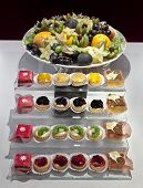 pic of fruit platter  - Catering platters of small pastries and fruit bowl