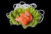 Salmon sashimy