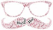 Word Cloud Illustration Related To Santa Claus.