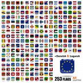 World Flags Collection - All Sovereign States Set On September 2014 - With Donetsk And Luhansk