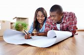 new home plans for young african black couple in apartment