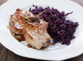 Pork Cutlet With Blue Kraut