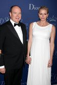 LOS ANGELES - OCT 8:  Prince Albert II of Monaco, Princess Charlene of Monaco at the Princess Grace Foundation Gala 2014 at Beverly Wilshire Hotel on October 8, 2014 in Beverly Hills, CA