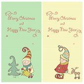 Vector Set of Christmas Gnome