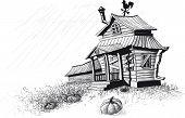 halloween house black