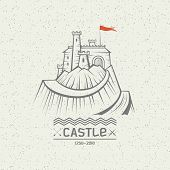Emblem Castle On A Mountain