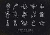 Vintage Sketch Christmas Icons