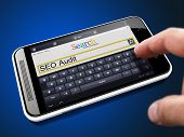 SEO Audit - Search String on Smartphone.