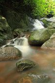 stock photo of chan  - Chan Ta Then Waterfalls on. Chonburi Province, Thailand. ** Note: Soft Focus at 100%, best at smaller sizes - JPG