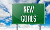 New Goals on Highway Signpost.