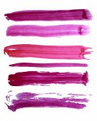 Colorful vector watercolor brush strokes