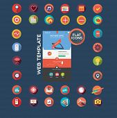 stock photo of poi  - Flat designed web template and icon set - JPG