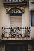 old balcony, Spanish city of Valencia, Mediterranean architecture