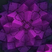 Violet Folded Ornamentarion