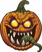 foto of halloween characters  - Halloween pumpkin monster - JPG