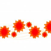Simple abstract background of orange flowers.