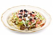 Taco Salad On White Background