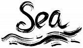 Sea Hand Lettering. Handmade Calligraphy.