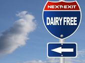 Dairy free road sign