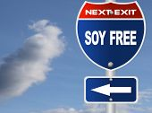 Soy free road sign