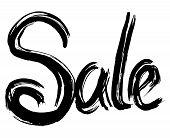 Sale Hand Lettering. Handmade Calligraphy. Vector