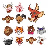 Animal Head Collection : Buffalo,Pig,Fox,Mon key,Goat,Lion, Tiger,Bear,Bulldog, Cow,Monkey & Dog