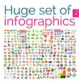 image of web template  - Huge mega set of infographic templates - JPG