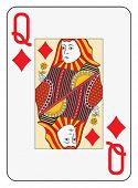 Jumbo index queen of diamonds playing card