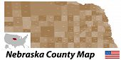 Nebraska County Map