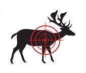 Vector Image Of A Deer Target