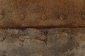 Decorative Plaster With Expressed Relief With Simulated Forging In Brown Tones