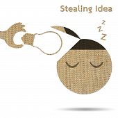 Stealing Idea Light Bulb