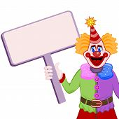 Clown with table