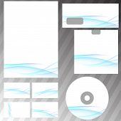 Blue Swoosh Wave Corporate Stationery Set
