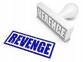 image of revenge  - REVENGE rubber stamp - JPG