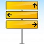 Yellow Arrows Signs