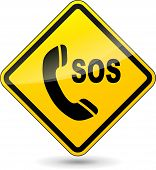 Sos Phone Diamond Sign