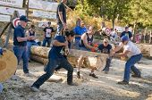 West Point, CA October 4, 2014: Lumberjack day, a typical slice of Americana in this small American