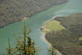 Lake Königssee in the bavarian Alps