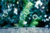 Soap Bubbles Abstract Background