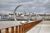 Rings On Embankment Of River Loire In Nantes