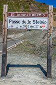 Bormio,italy-august 5,2013: Stelvio Pass