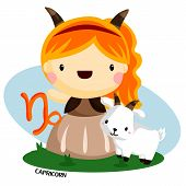 picture of capricorn  - capricorn sign describe by goat and a child - JPG