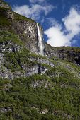 Waterfall in the Lysefjord