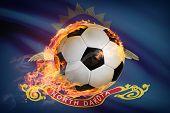 Soccer Ball With Flag On Background Series - North Dakota