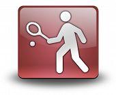 Icon, Button, Pictogram Tennis