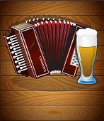 Harmonica And Glass Of Beer