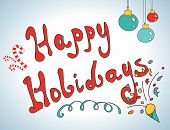 Happy holidays postcard design